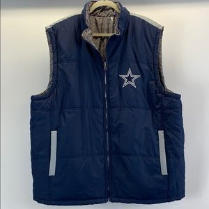 Dallas Cowboys NFL official reversible puffer vest